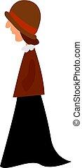 rok, witte , black , achtergrond., vrouw, vector, illustratie
