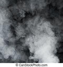 rokerig, wolk, achtergrond