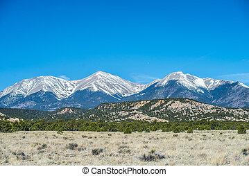 roky, βουνά , μακρινή θέα , colorado , αντίκρυσμα του θηράματος