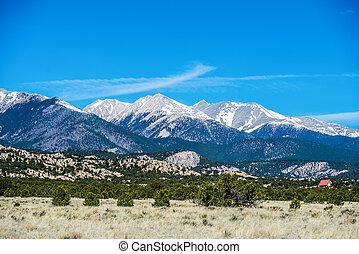roky, bergen, vergezicht, colorado, aanzichten