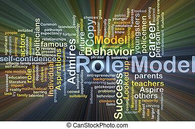 rol model, achtergrond, concept, gloeiend