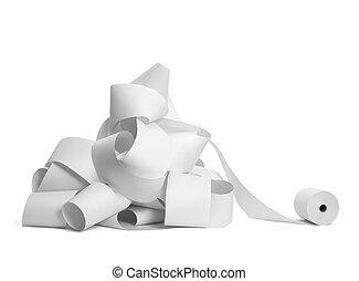 rol van papier, boekhouding, kantoor, zakelijk