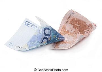 rolado, 9, contas, euro