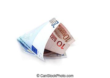 rolado, contas, 5, euro