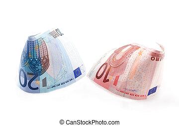 rolado, contas, euro, 6