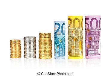rolado, contas, euro