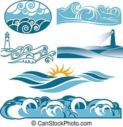 rolando, azul, mares