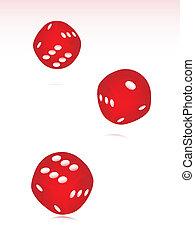 rolando, vermelho, eps8, dado, três