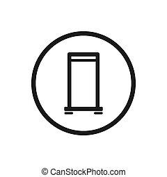role cima, ícone, ligado, um, fundo branco