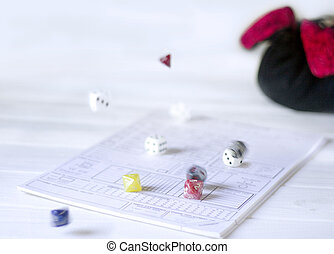 Role playing rolling dices - Role playing concept rolling ...