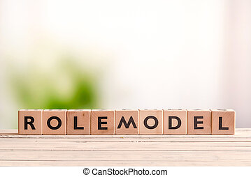 Rolemodel sign made with cubes