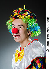 rolig, clown, in, humor, begrepp
