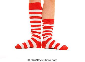 rolig, randiga sockor