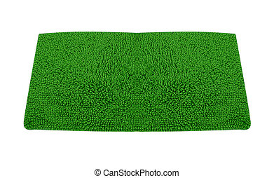roll green grass isolated