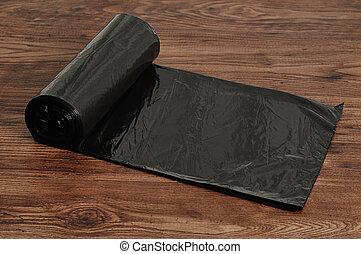 Roll of black garbage bags