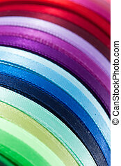colorful ribbons - diagonal