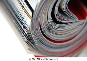 Roll of Magazine Closeup - Closeup of magazine roll together...