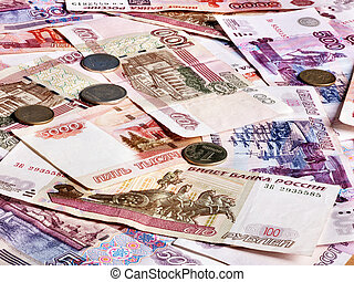 Roll of money (Russian ruble).