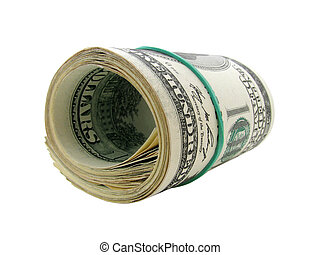 roll of one hundred dollars banknotes