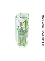 Roll of one hundred euro
