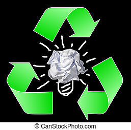 roll of paper waste, recycling conc
