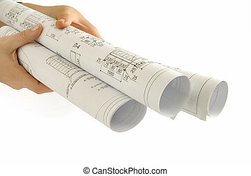 roll of paper with ribbon in hand