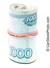 Roll of russian roubles
