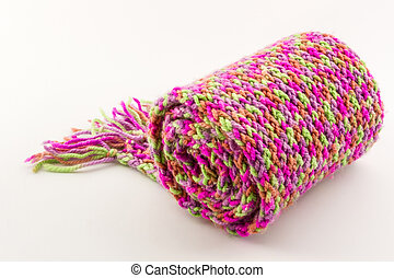 Roll of scarf colorful.
