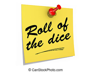 Roll of the Dice White Background