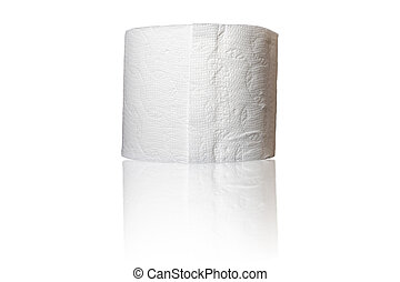 Roll of Toilet Paper Isolated on White