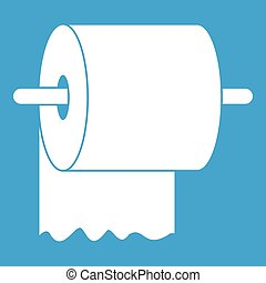 Toilet paper sign white section of icon on blueprint template roll of toilet paper on holder icon white malvernweather Images