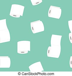 roll of toilet paper seamless pattern vector illustration ...