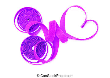 roll of velcro on white background