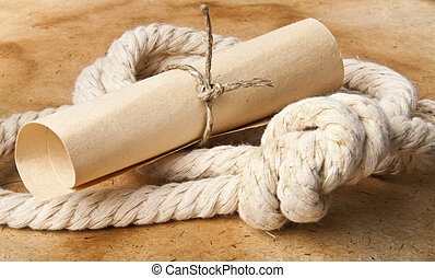 Roll of wire rope and marine