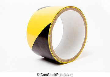 high visibility tape - Roll of yellow and black high ...