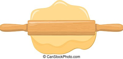 Roll out dough with rolling pin.