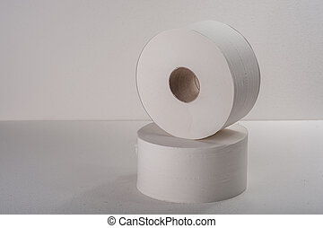 Roll paper on white background