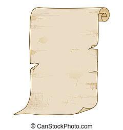 roll., papier, vieux, vecteur