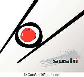 roll., sushi, matpinnar, holdingen