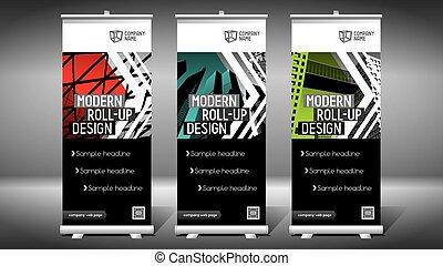 roll-up, -, (85x200, edificios, moderno, diseño, cm), ...