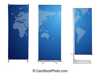 roll up banner display and background for design work