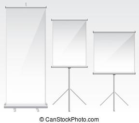 Roll up banner glass illustration