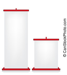 Roll up banner red