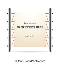 Roll up banner stand. Vector.