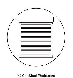 Roll up door icon