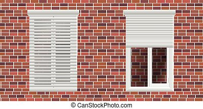 Roll up shutter, vector illustration. utter, roller, window,...