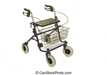 Rollator isolated on white background