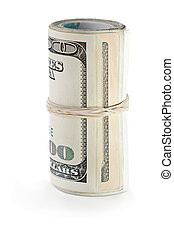 Rolled dollar currency - Rolled up paper dollar currency...