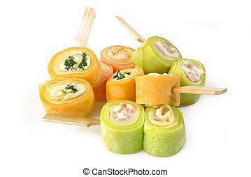 rolled ham and cheese