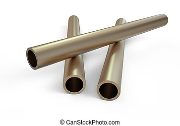 rolled metal, bronze pipes